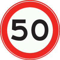 A1 Maximumsnelheid 50 km/h