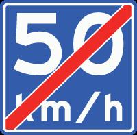 A5 Einde adviessnelheid 50 km/u