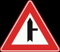 B5 Voorrangskruispunt, zijweg van rechts