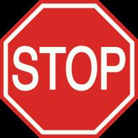 B7 Stop. Verleen voorrang aan bestuurders op de kruisende weg