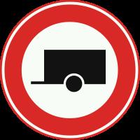 C10 Gesloten voor motorvoertuigen met aanhanger