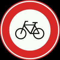 C14 Gesloten voor fietsen en gehandicaptenvoertuigen zonder motor