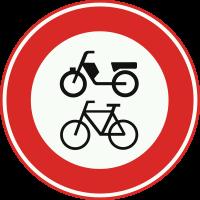 C15 Gesloten voor fietsen, bromfietsen, en gehandicaptenvoertuigen