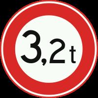C21 Gesloten voor voertuigen waarvan de totaalmassa hoger is dan op het bord is aangegeven