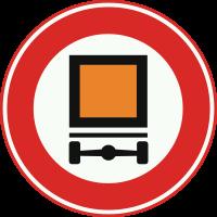 C22 Gesloten voor voertuigen met bepaalde gevaarlijke stoffen