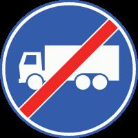 F22 Einde vrachtautobaan of –strook