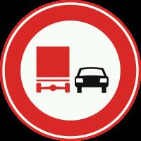 F3 Verbod voor vrachtauto's om motorvoertuigen in te halen