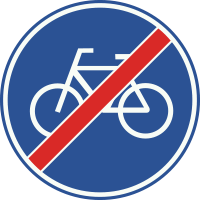 G12 Einde verplicht fietspad