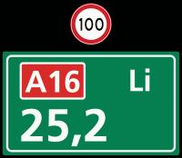 Hectometerbord versie A