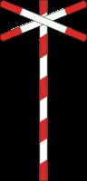 J12 Spoorweg overweg met enkel spoor