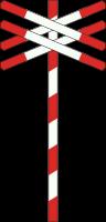 J13 Spoorweg overweg met dubbel spoor