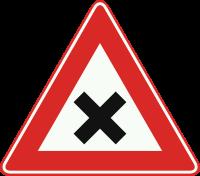 J8 Gevaarlijk kruispunt