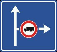 L10 Vooraanduiding verkeersmaatregel voor de aangegeven richting