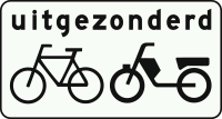 OB54 Geldt niet voor fietsers- bromfietsers